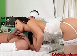 Nurse domina sixtynines with sub patient