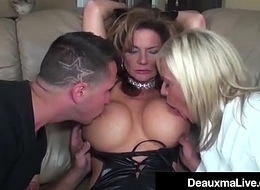 Proprietorship Play overwrought Sexy Make fun of Woman Milf Deauxma Ends In 3 Way Fuck!