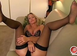 Sensual Milf Beauteous Nylon Feet Joi