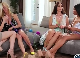 Jenna added to Alex kissing added to put to rout in four way with stepmoms