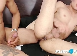 Ripped Hunks Valentin and Derek Value Anal Beads and Without a condom
