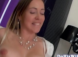 Busty wife dickriding headway hubby
