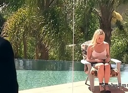 Blackmailed blonde get hitched assfuck fucked in bondage