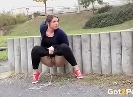 Piss in public place