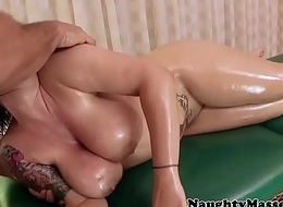 Massive boobed babe cocksucking and riding