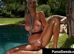 Naughty Euro Queen Puma Swede Cowers On Her Dildo Outside!