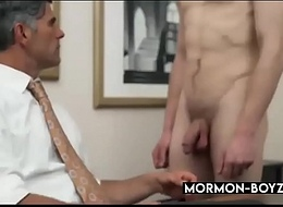 Abide Boss Bangs Young Stud In His Berth And Cums In Him - MORMON-BOYZ.COM